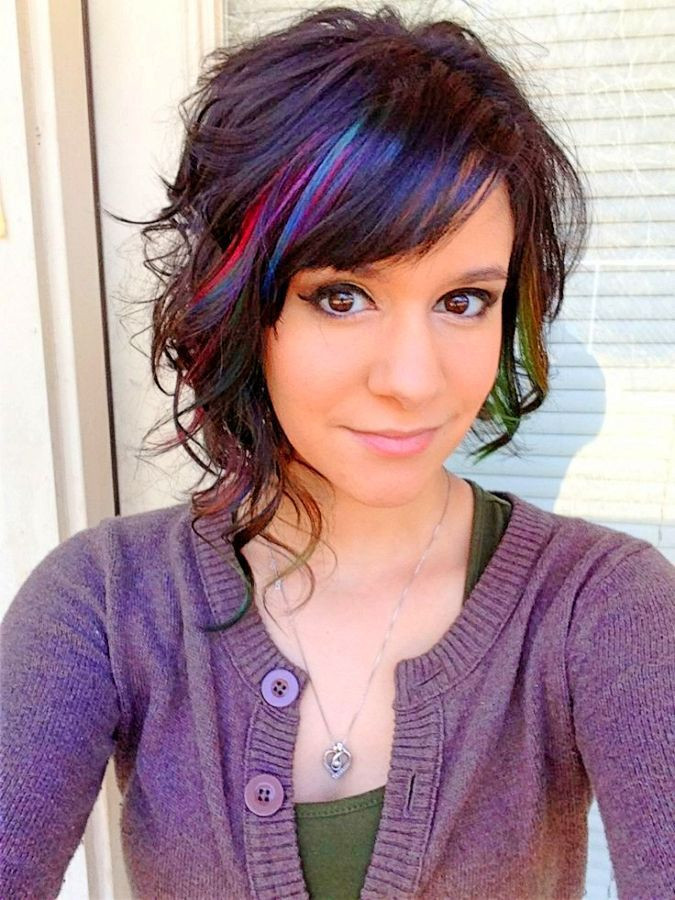 Best ideas about Colored Hairstyles . Save or Pin Image result for hair color purple pink medium length Now.
