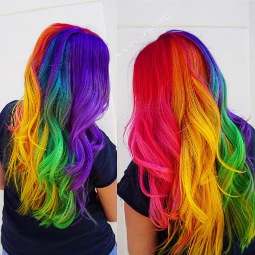 Best ideas about Colored Hairstyles . Save or Pin 29 Colorful Rainbow Hair Ideas Trending in 2019 Now.