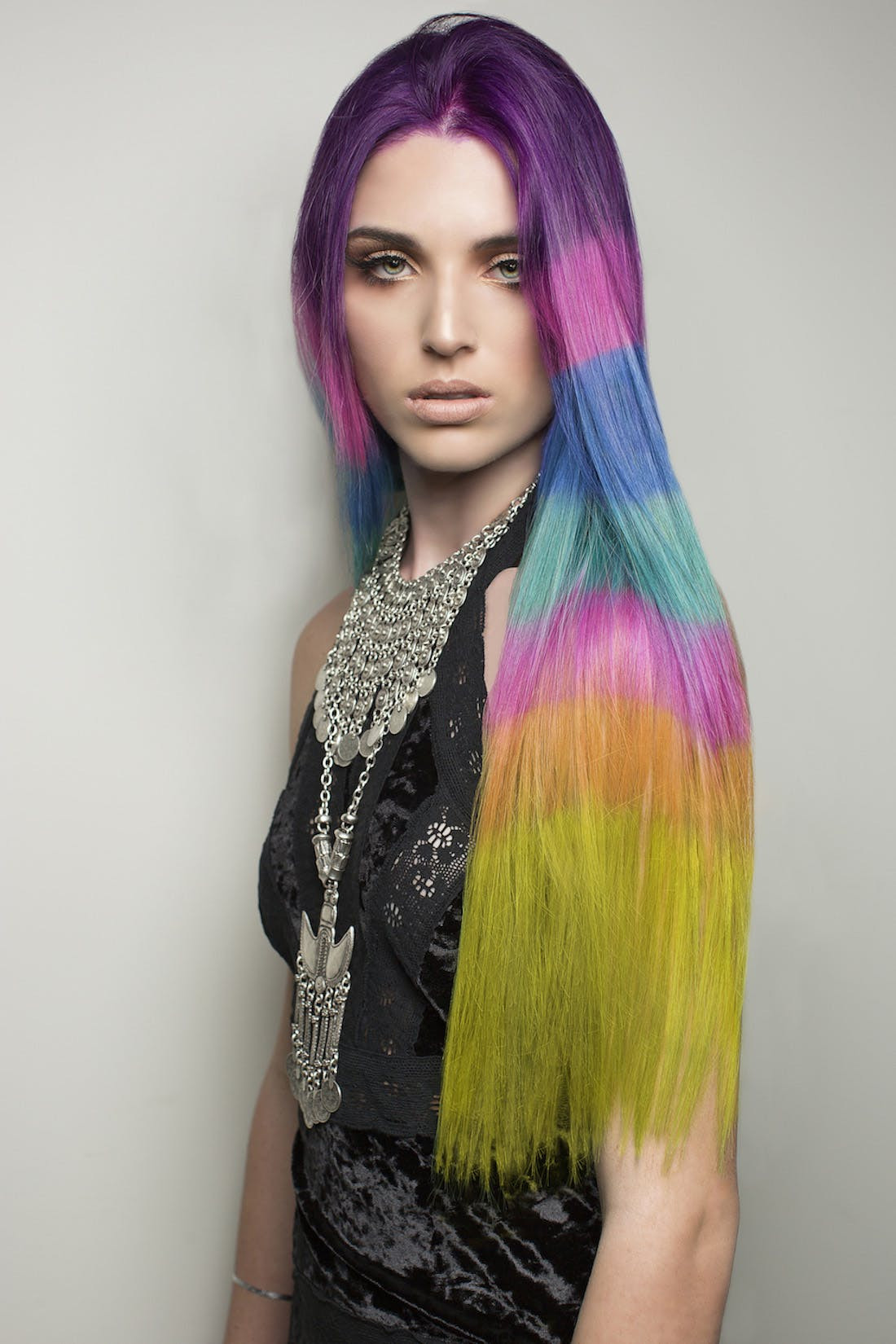 Best ideas about Colored Hairstyles . Save or Pin The Color Blocked Hair Dye Trend Takes Rainbow Hair to the Now.