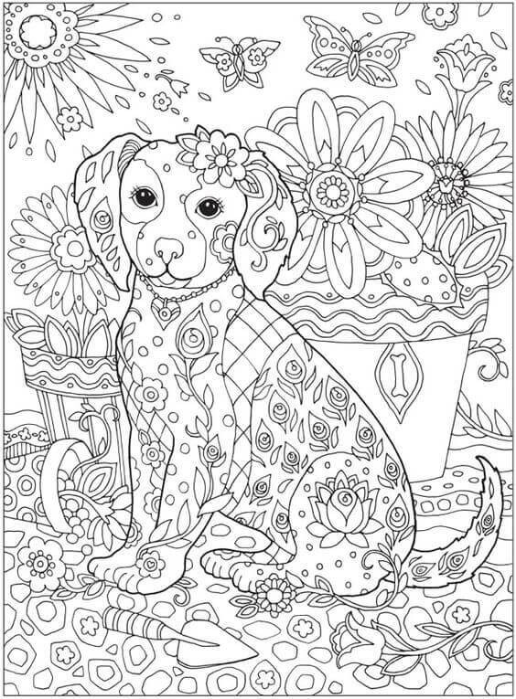 Best ideas about Coloring Pages For Adults Dogs . Save or Pin 30 Free Printable Cute Dog Coloring Pages Now.