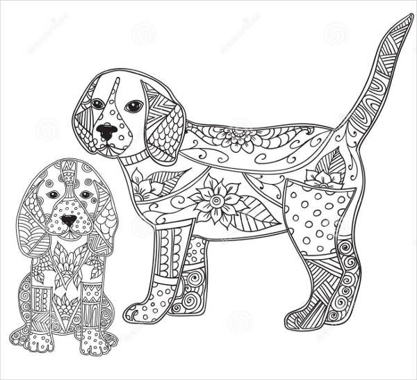 Best ideas about Coloring Pages For Adults Dogs . Save or Pin 9 Puppy Coloring Pages JPG AI Illustrator Download Now.