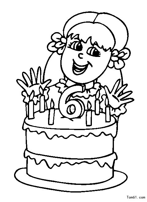 Best ideas about Coloring Pages For Boys 6 And Up . Save or Pin 生日涂色图片 简笔画图片 少儿图库 中国儿童资源网 Now.