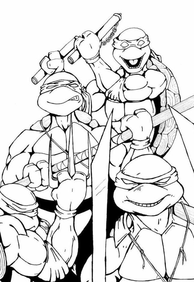Best ideas about Coloring Pages For Boys 6 And Up . Save or Pin Top 25 Free Printable Ninja Turtles Coloring Pages line Now.