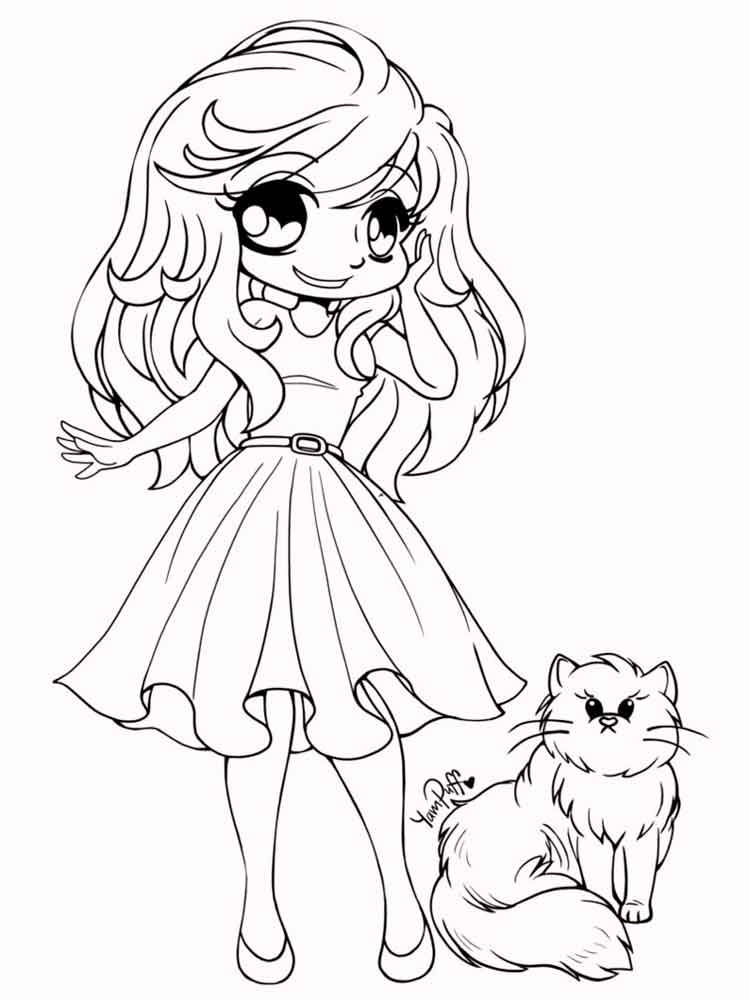 Best ideas about Coloring Pages For Girls 15 And Up . Save or Pin Chibi coloring pages Free Printable Chibi coloring pages Now.