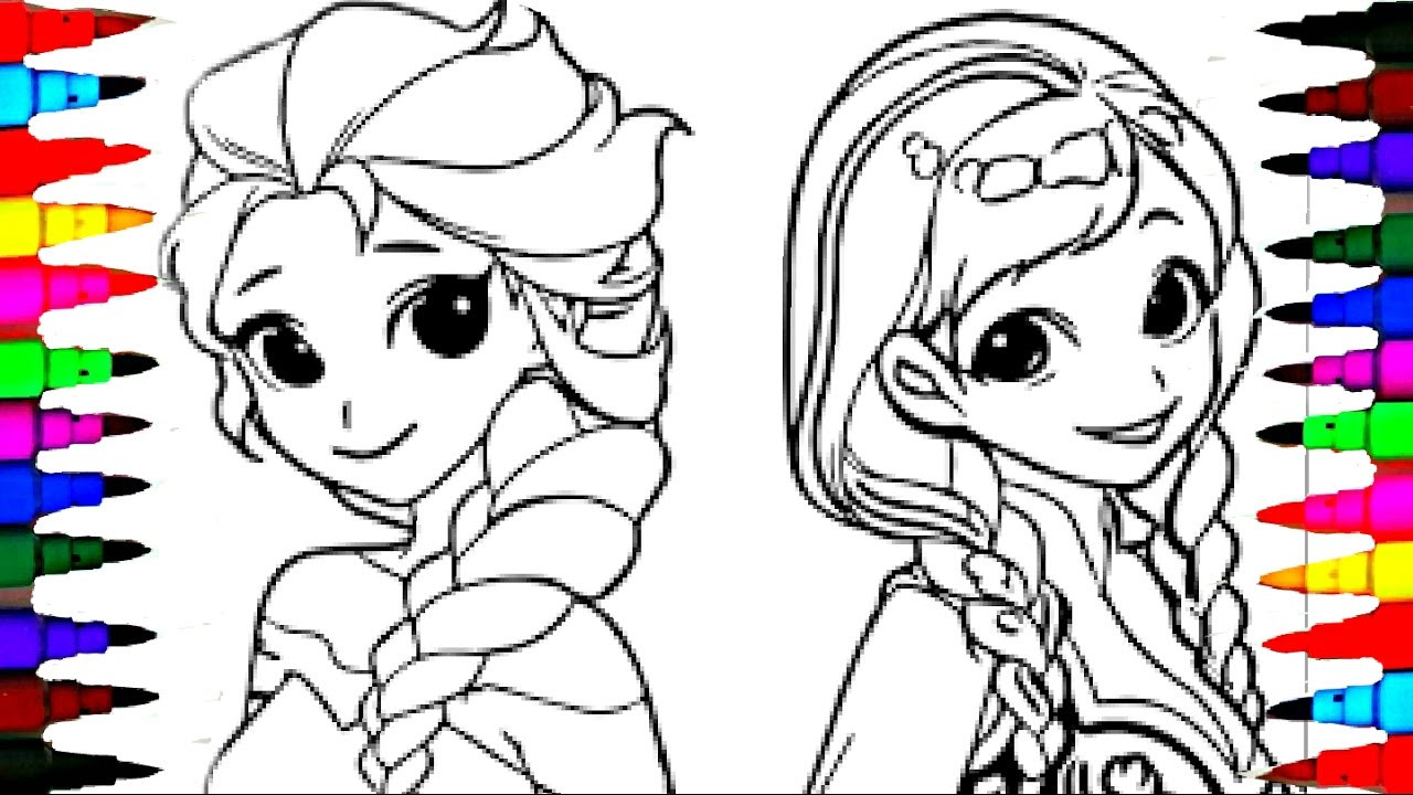 Best ideas about Coloring Pages For Girls Elsa And Anna . Save or Pin Coloring Pages Disney Frozen Cartoon Elsa and Anna Now.