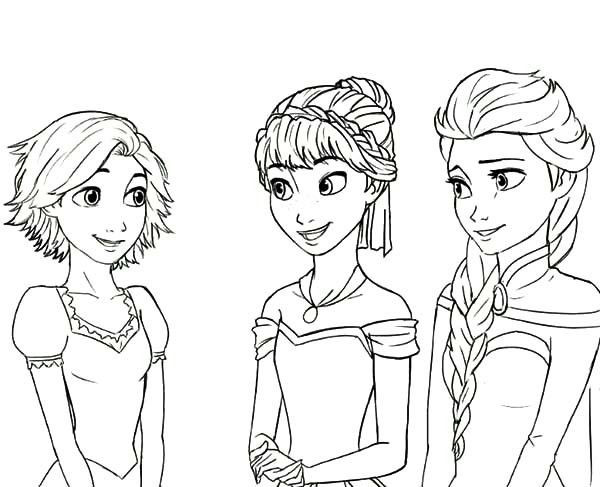 Best ideas about Coloring Pages For Girls Elsa And Anna . Save or Pin Anna Rapunzel Princess Queen Elsa Cousin Coloring Pages Now.
