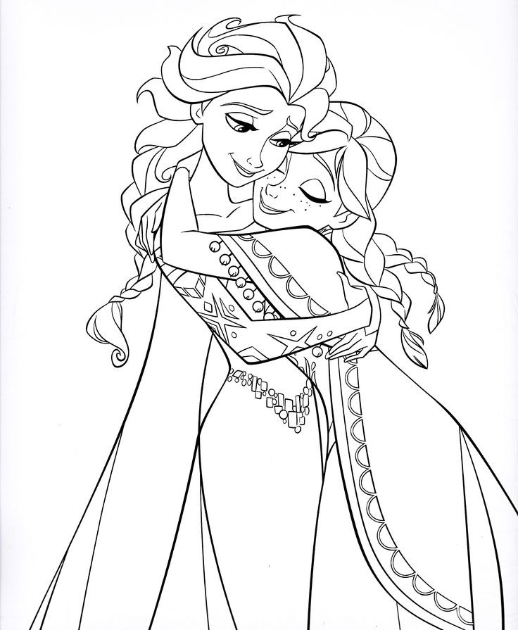 Best ideas about Coloring Pages For Girls Elsa And Anna . Save or Pin Best 25 Frozen coloring sheets ideas on Pinterest Now.