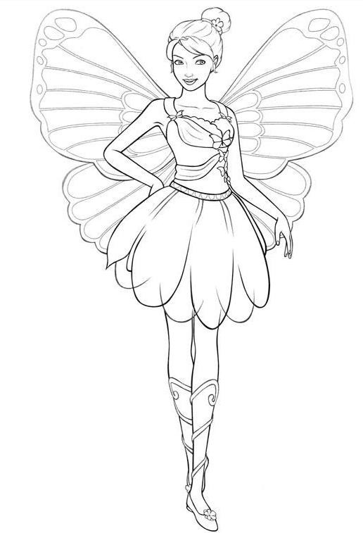 Best ideas about Coloring Pages For Girls Fairies . Save or Pin Barbie Coloring Girls Coloring Pages Barbie Three Now.