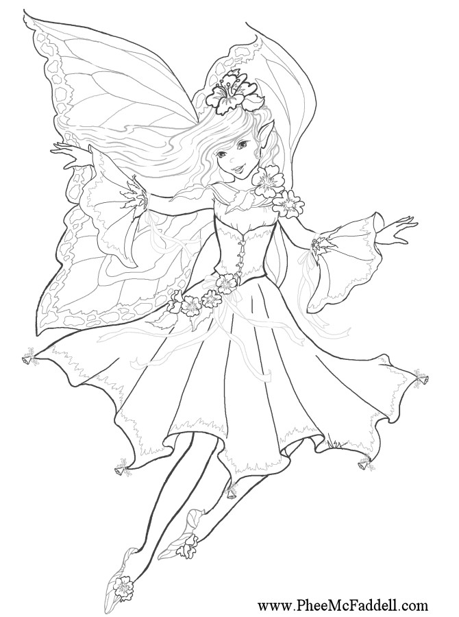Best ideas about Coloring Pages For Girls Fairies . Save or Pin Fairy Coloring Pages 2019 Dr Odd Now.