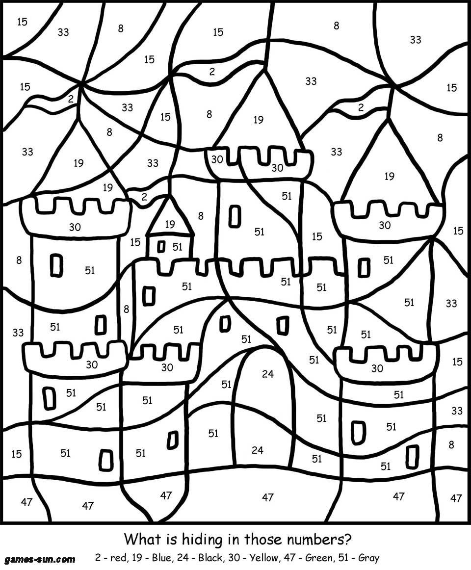 Best ideas about Coloring Pages For Girls Games . Save or Pin sand castle coloring by numbers games the sun Now.