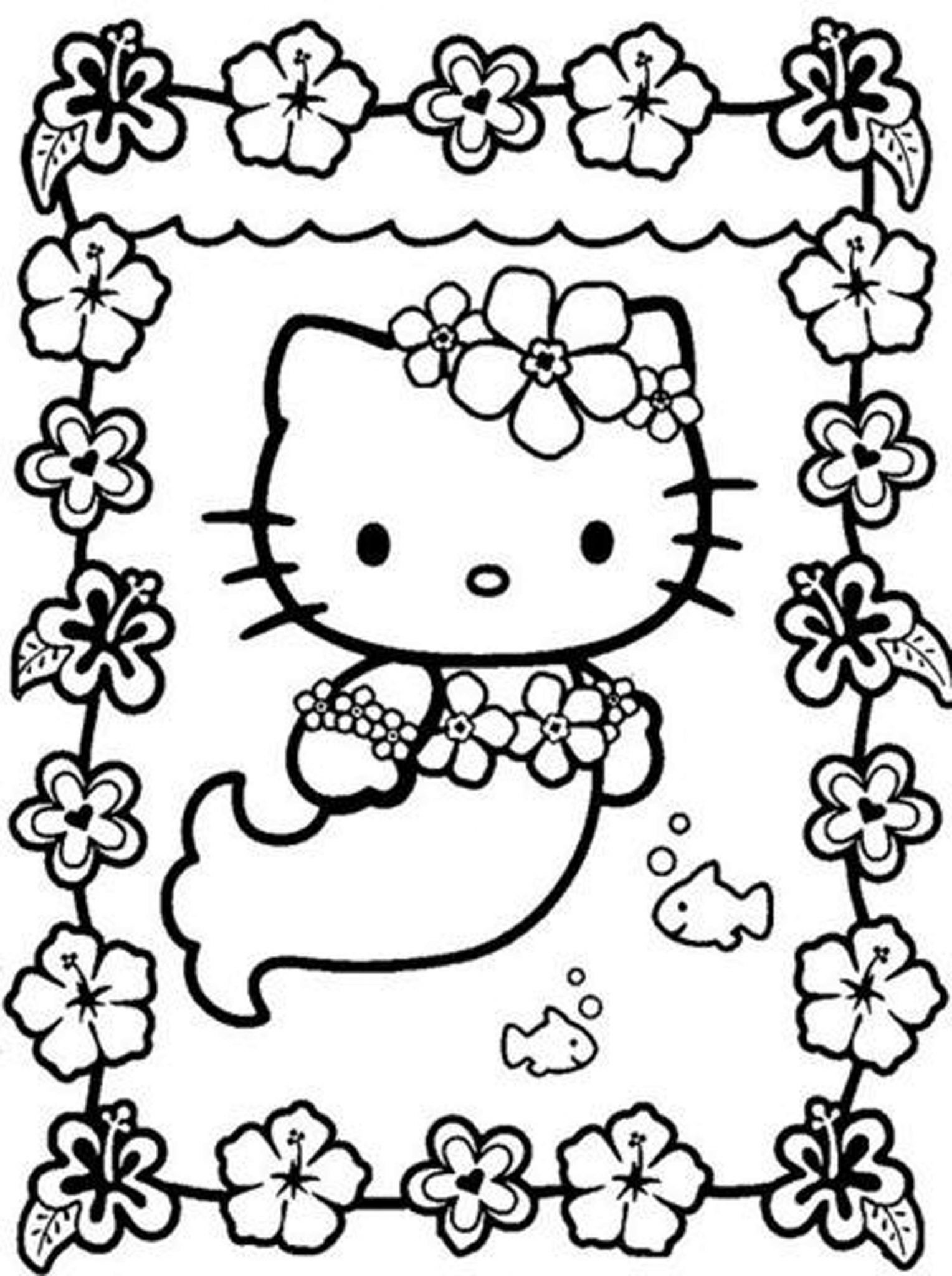 Best ideas about Coloring Pages For Girls Hello Kitty . Save or Pin hello kitty coloring pages for girls Now.