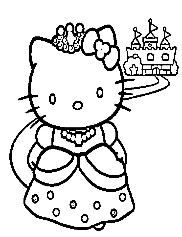 Best ideas about Coloring Pages For Girls Hello Kitty . Save or Pin Princess Hello kitty Coloring Pages Now.