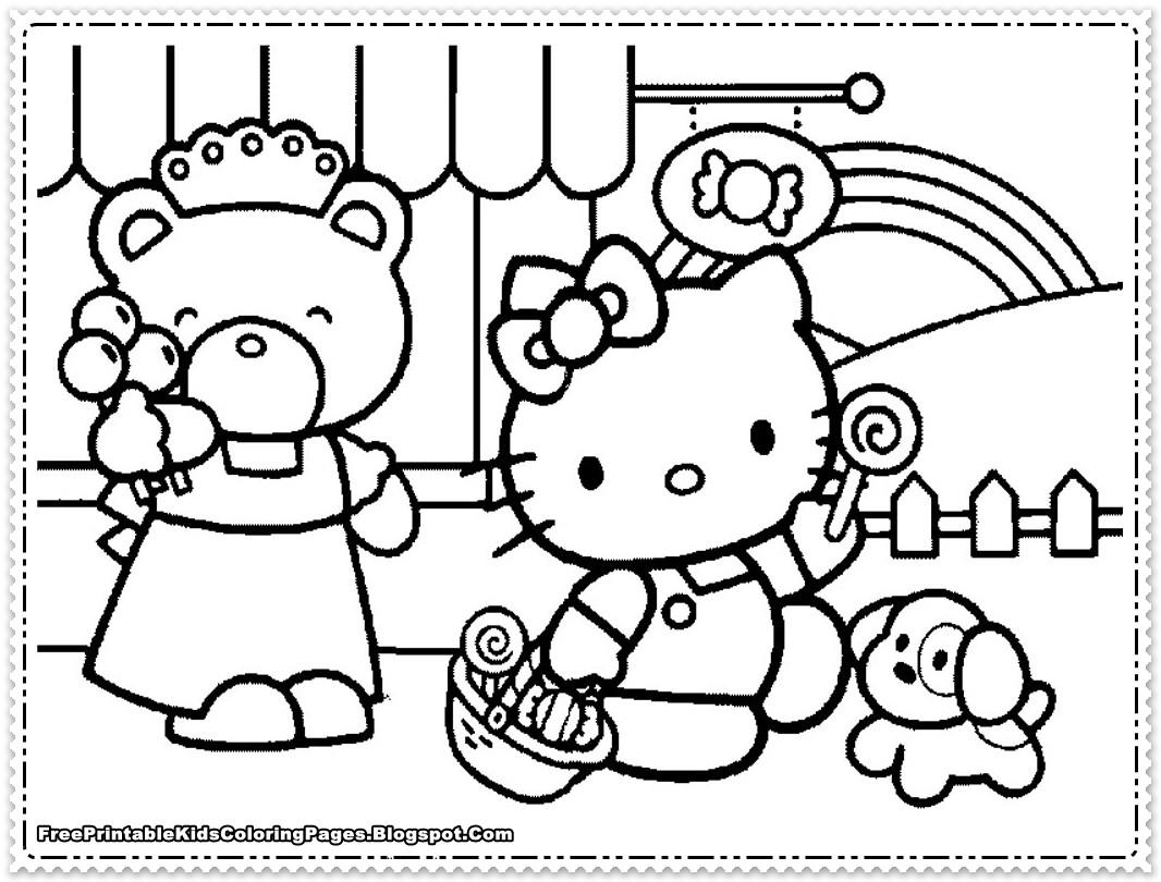 Best ideas about Coloring Pages For Girls Hello Kitty . Save or Pin Ausmalbilder für Kinder Malvorlagen und malbuch • Kitty Now.