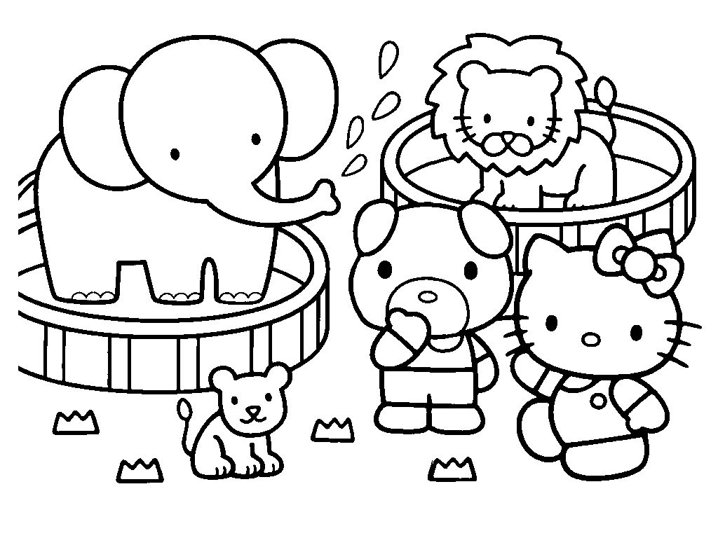 Best ideas about Coloring Pages For Girls Hello Kitty . Save or Pin Hello Kitty Coloring Pages Now.