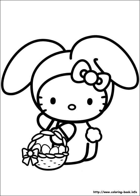 Best ideas about Coloring Pages For Girls Hello Kitty . Save or Pin Hello Kitty coloring picture Party ideas Now.