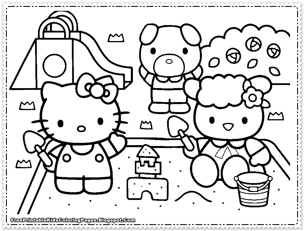 Best ideas about Coloring Pages For Girls Hello Kitty . Save or Pin Hello Kitty Coloring Pages For Girls Free Printable Kids Now.