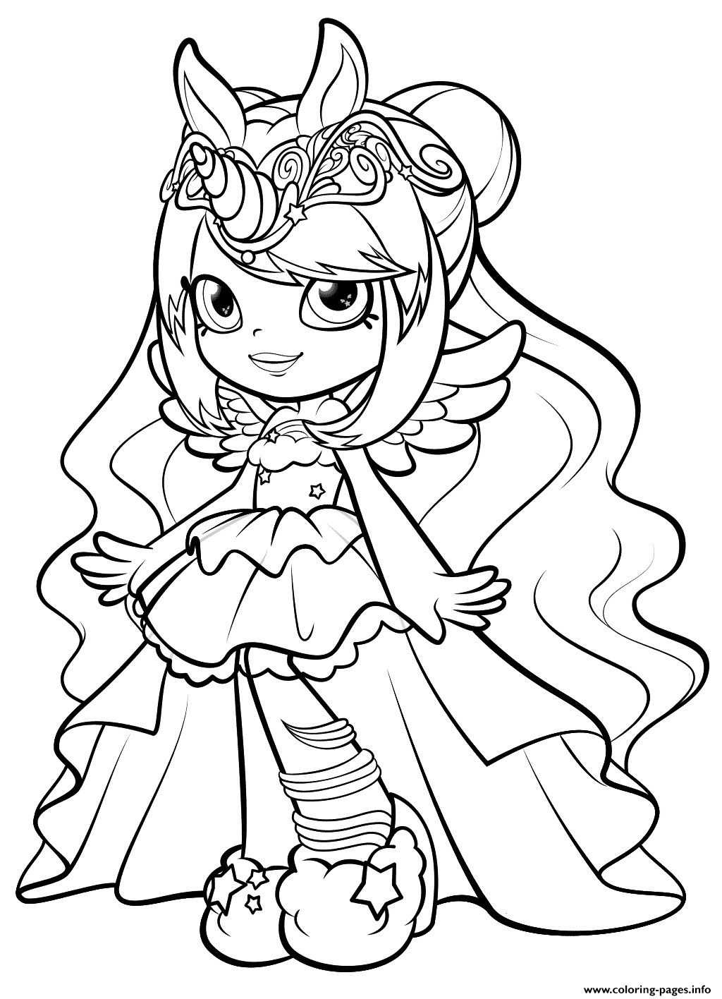 Best ideas about Coloring Pages For Girls Lds And Shopkins . Save or Pin Print Shopkins Mysterbella Wild Style Shoppies Doll Now.