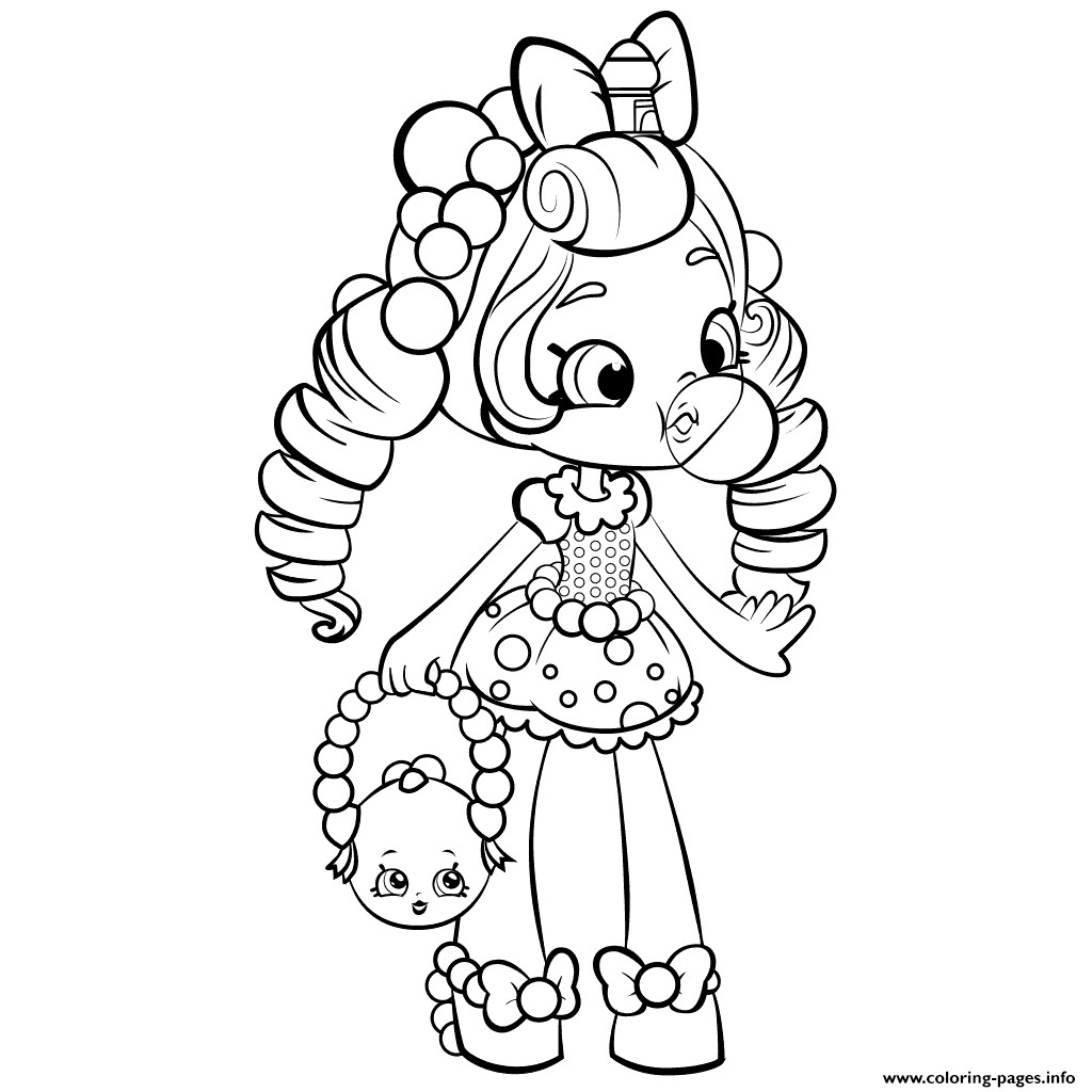 Best ideas about Coloring Pages For Girls Lds And Shopkins . Save or Pin Print shopkins shoppies gum baloon coloring pages Now.