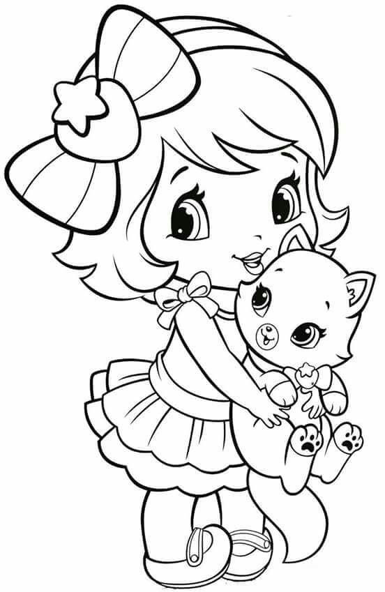 Best ideas about Coloring Pages For Girls Lds And Shopkins . Save or Pin Coloring Pages Little Girl Now.