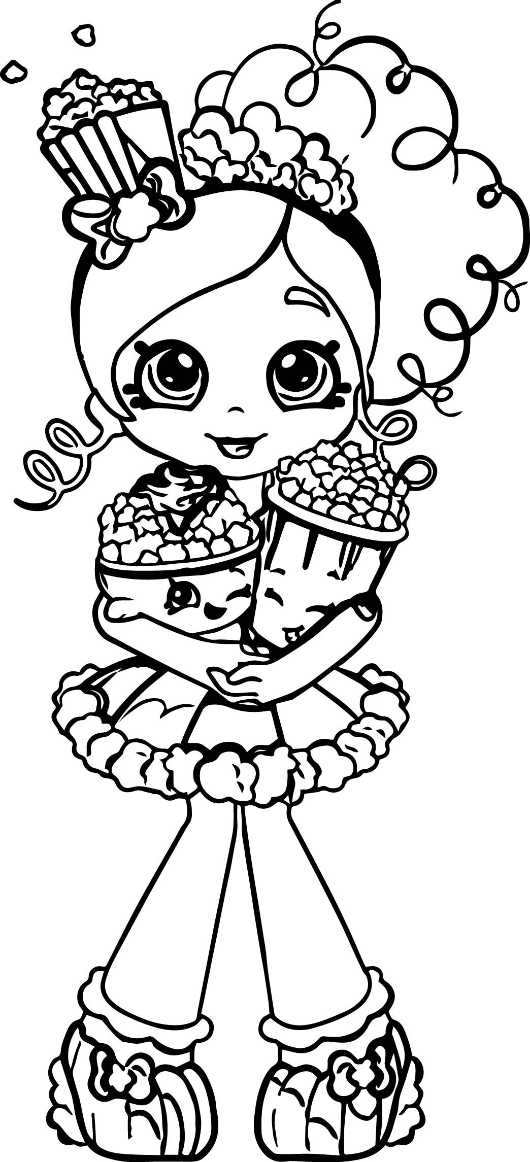 Best ideas about Coloring Pages For Girls Lds And Shopkins . Save or Pin Popcorn Shopkins Girl Coloring Page Now.