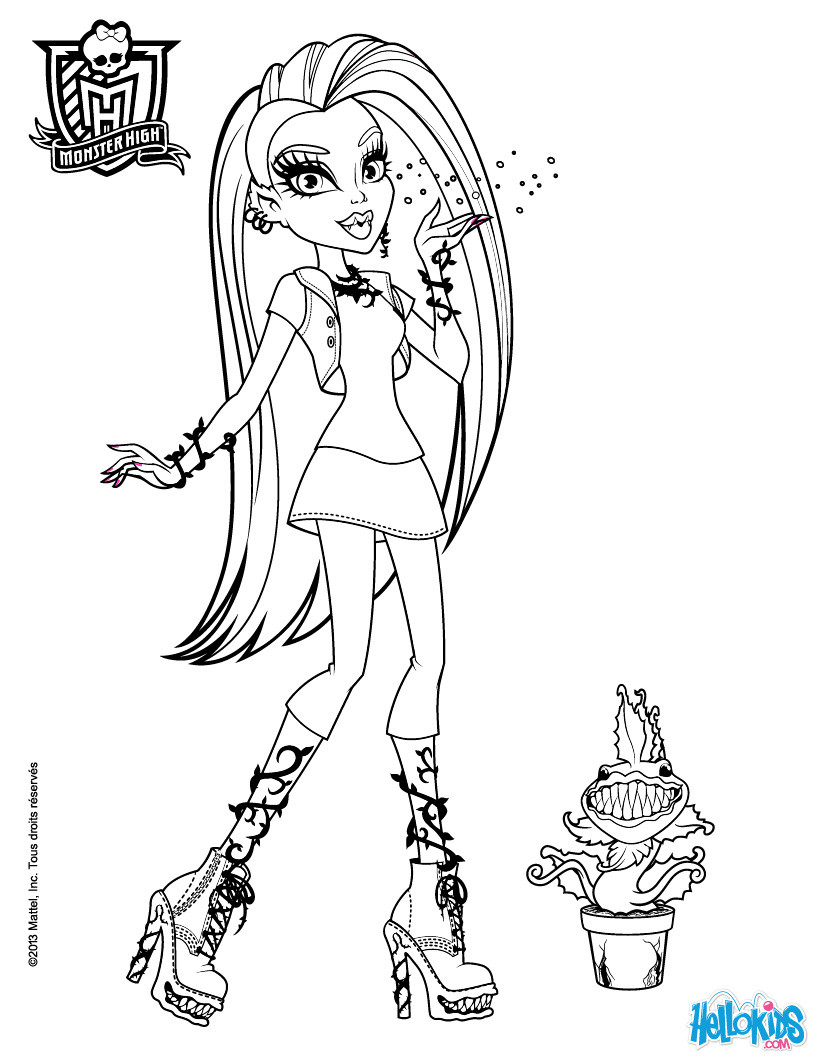 Best ideas about Coloring Pages For Girls Monster High Printable Frankin Stein . Save or Pin Coloring Pages for Girls Dr Odd Now.