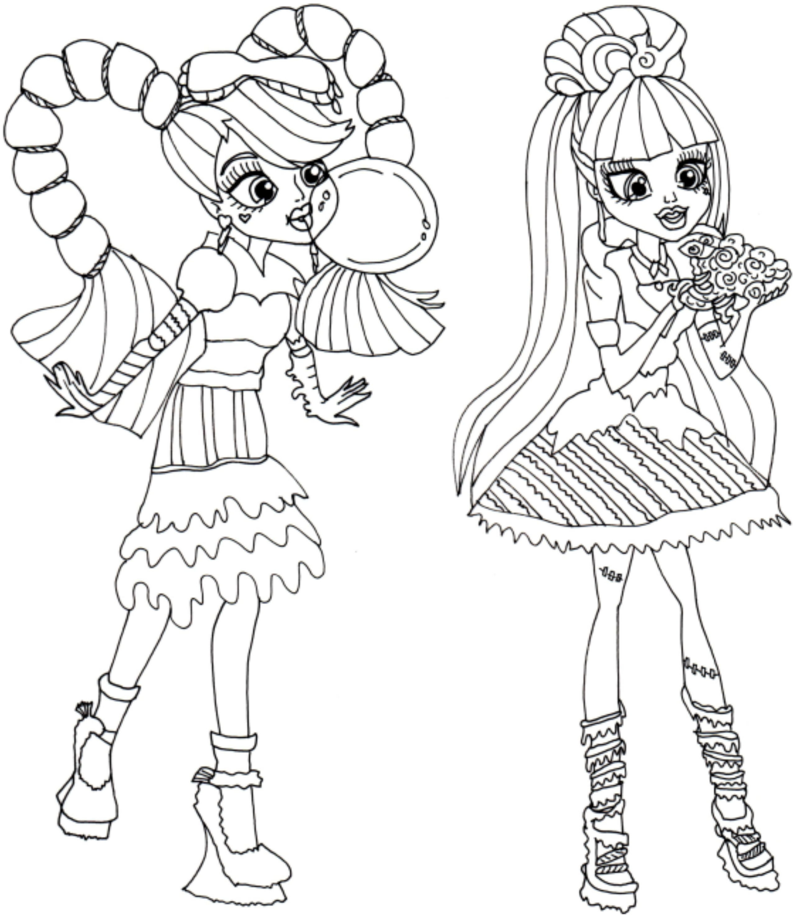 Best ideas about Coloring Pages For Girls Monster High Printable Frankin Stein . Save or Pin Monster High To Print Now.
