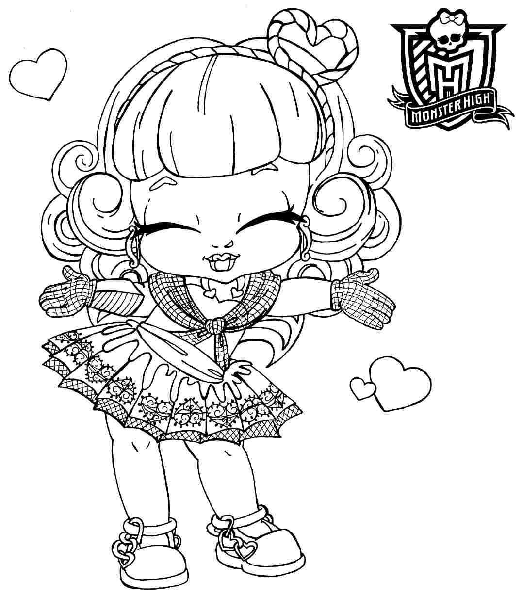 Best ideas about Coloring Pages For Girls Monster High Printable Frankin Stein . Save or Pin monster high coloring pages baby Now.
