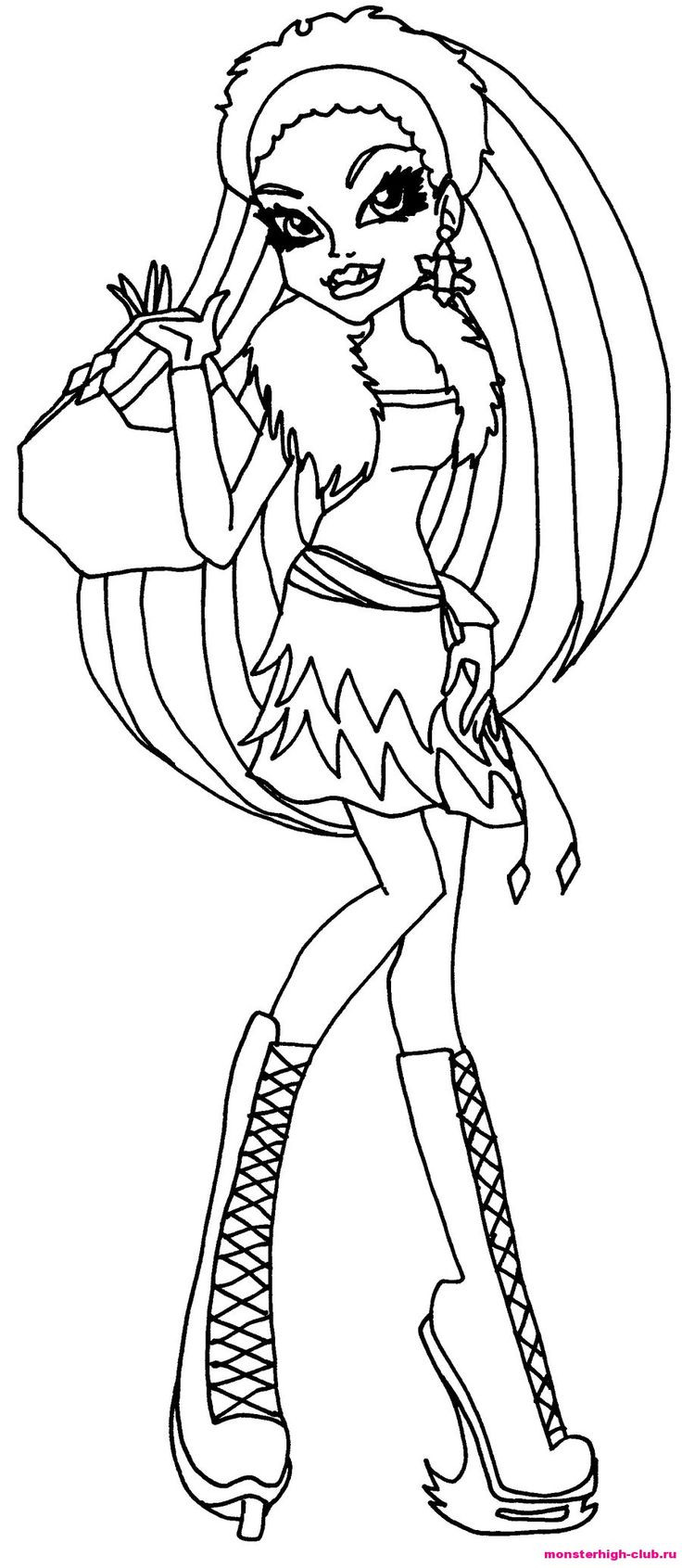 Best ideas about Coloring Pages For Girls Monster High Printable Frankin Stein . Save or Pin Monster high Frankie Stein coloring page Now.