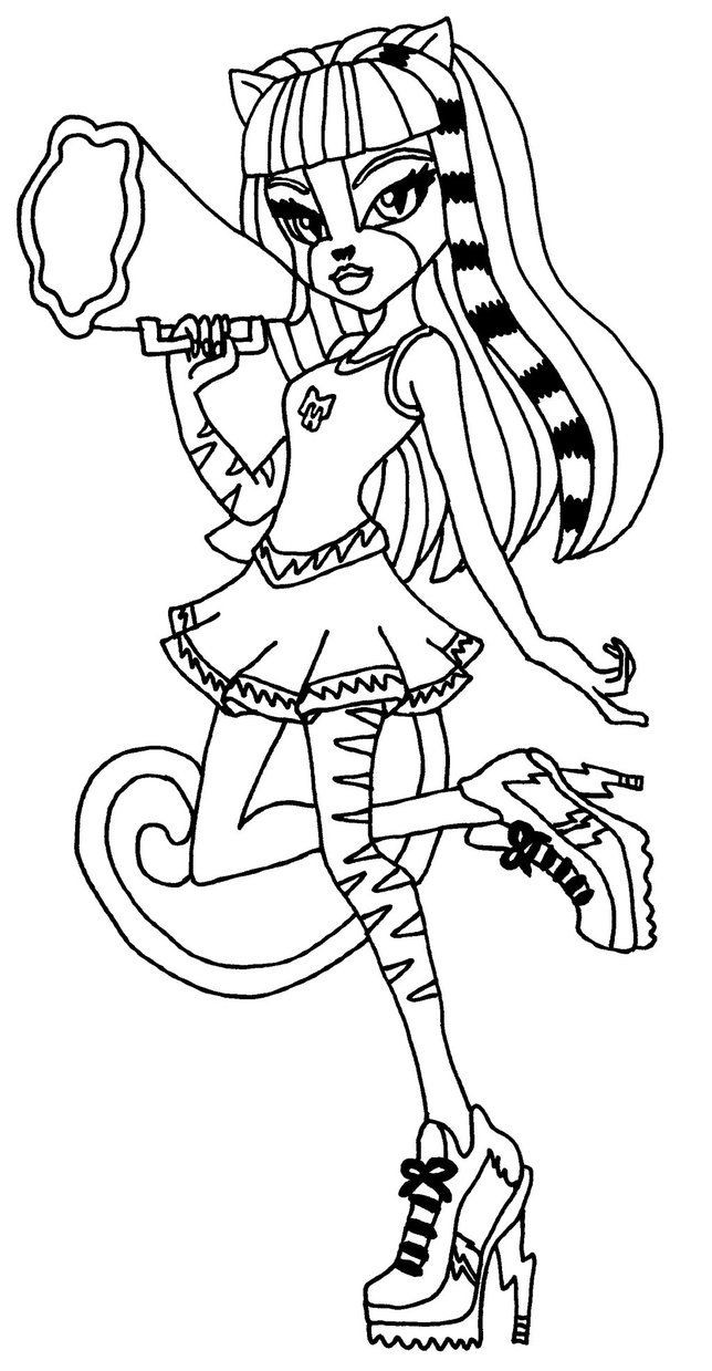 Best ideas about Coloring Pages For Girls Monster High Printable Frankin Stein . Save or Pin Purrsephone Monster High Coloring Page Now.