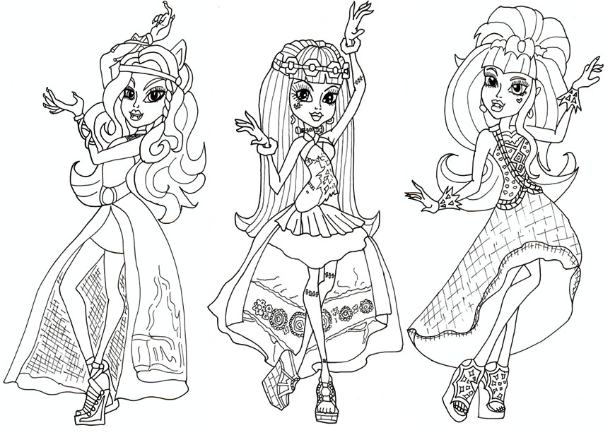 Best ideas about Coloring Pages For Girls Monster High Printable Frankin Stein . Save or Pin Monster High Coloring Pages Coloring Home Now.