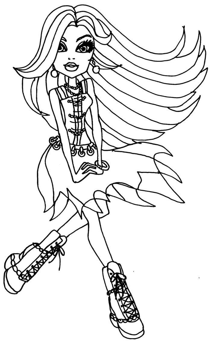 Best ideas about Coloring Pages For Girls Monster High Printable Frankin Stein . Save or Pin Monster High Colouring Pages Frankie Stein Now.
