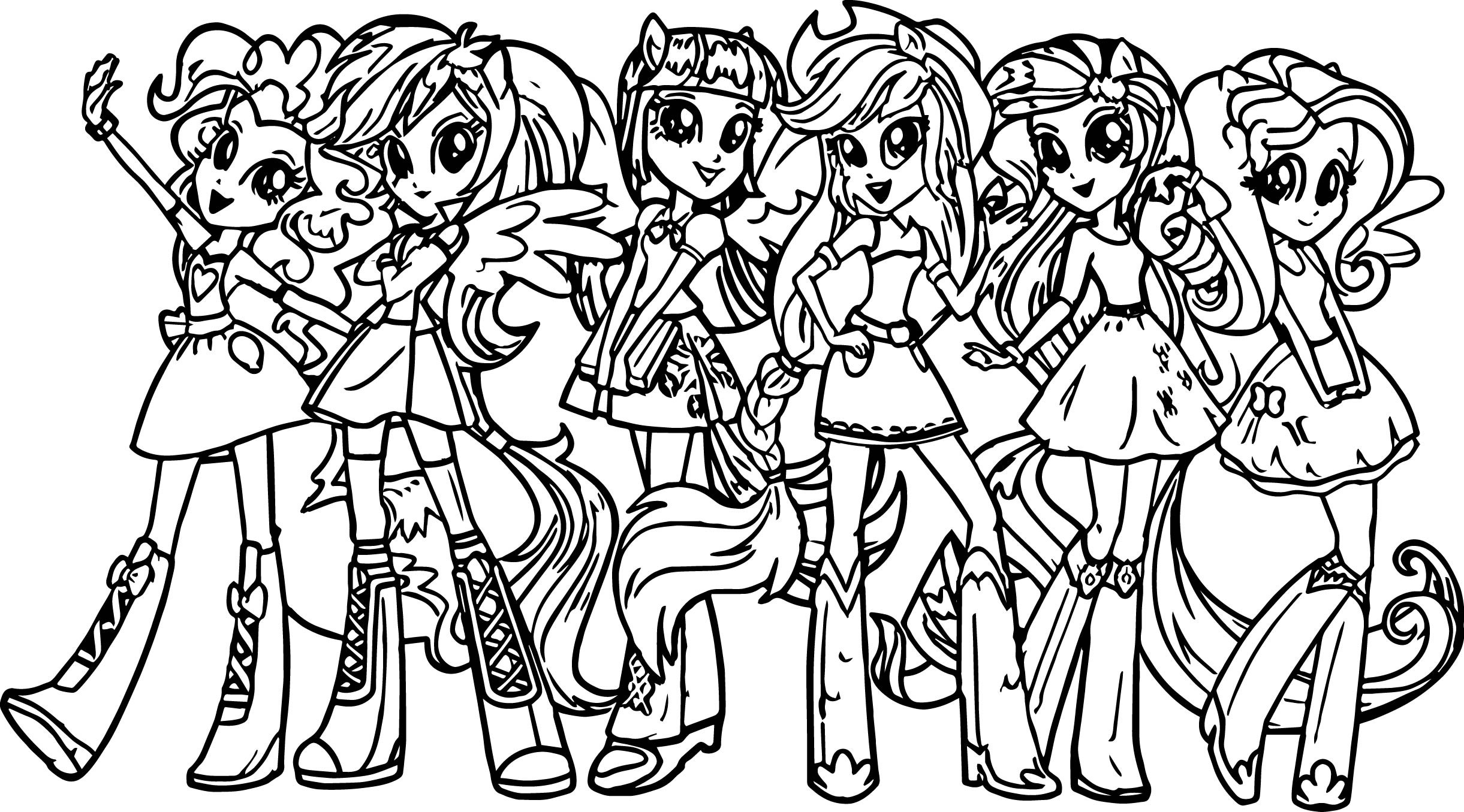 Best ideas about Coloring Pages For Girls My Little Pony . Save or Pin My Little Pony Girls Coloring Page Now.