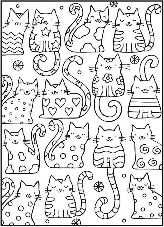 Best ideas about Coloring Pages For Girls No Boys . Save or Pin 고양이 컬러링북 도안 색칠공부 프린트해서 사용하세요 어린이집 Now.