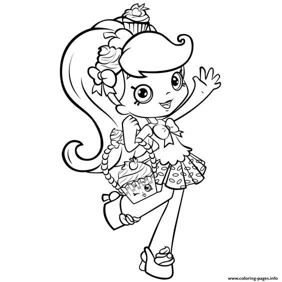 Best ideas about Coloring Pages For Girls Shopkins Cookie . Save or Pin Print shopkins girl shoppie say hi coloring pages Now.
