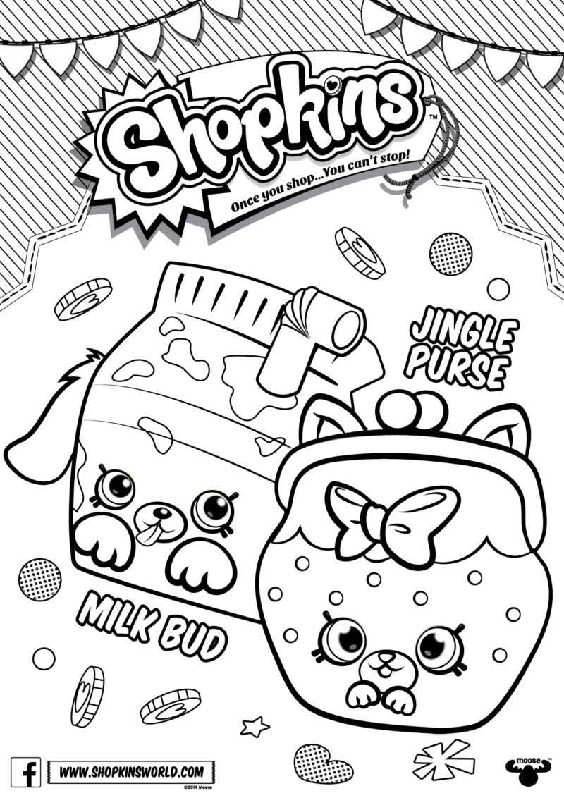 Best ideas about Coloring Pages For Girls Shopkins Cookie . Save or Pin Shopkins Coloring Pages Season 4 Petkins Jingle Purse Milk Now.