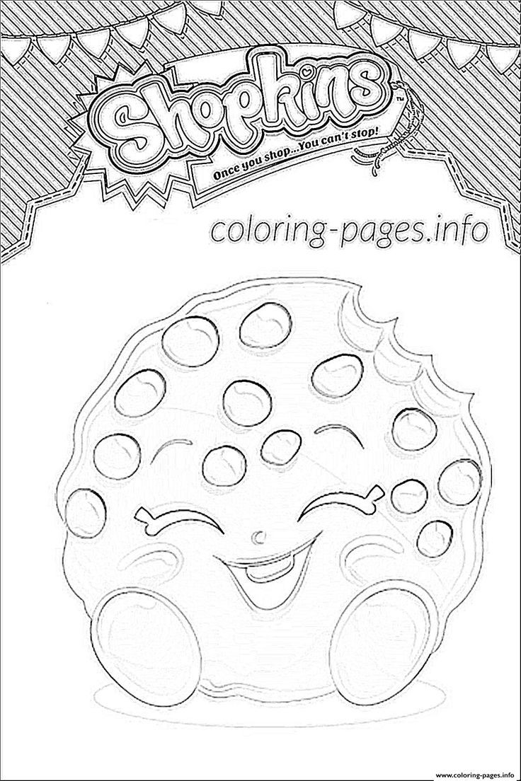 Best ideas about Coloring Pages For Girls Shopkins Cookie . Save or Pin Print shopkins kooky cookie shoppies coloring pages Now.