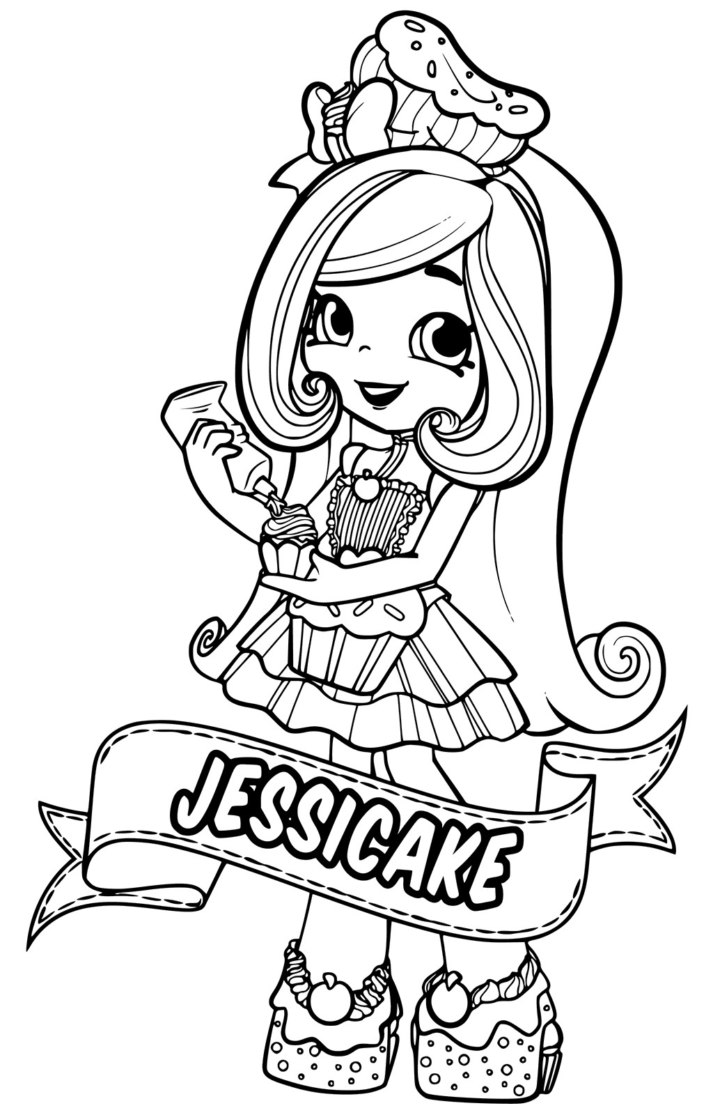 Best ideas about Coloring Pages For Girls Shopkins Cookie . Save or Pin Shoppies Coloring Pages SHOPKINS Now.