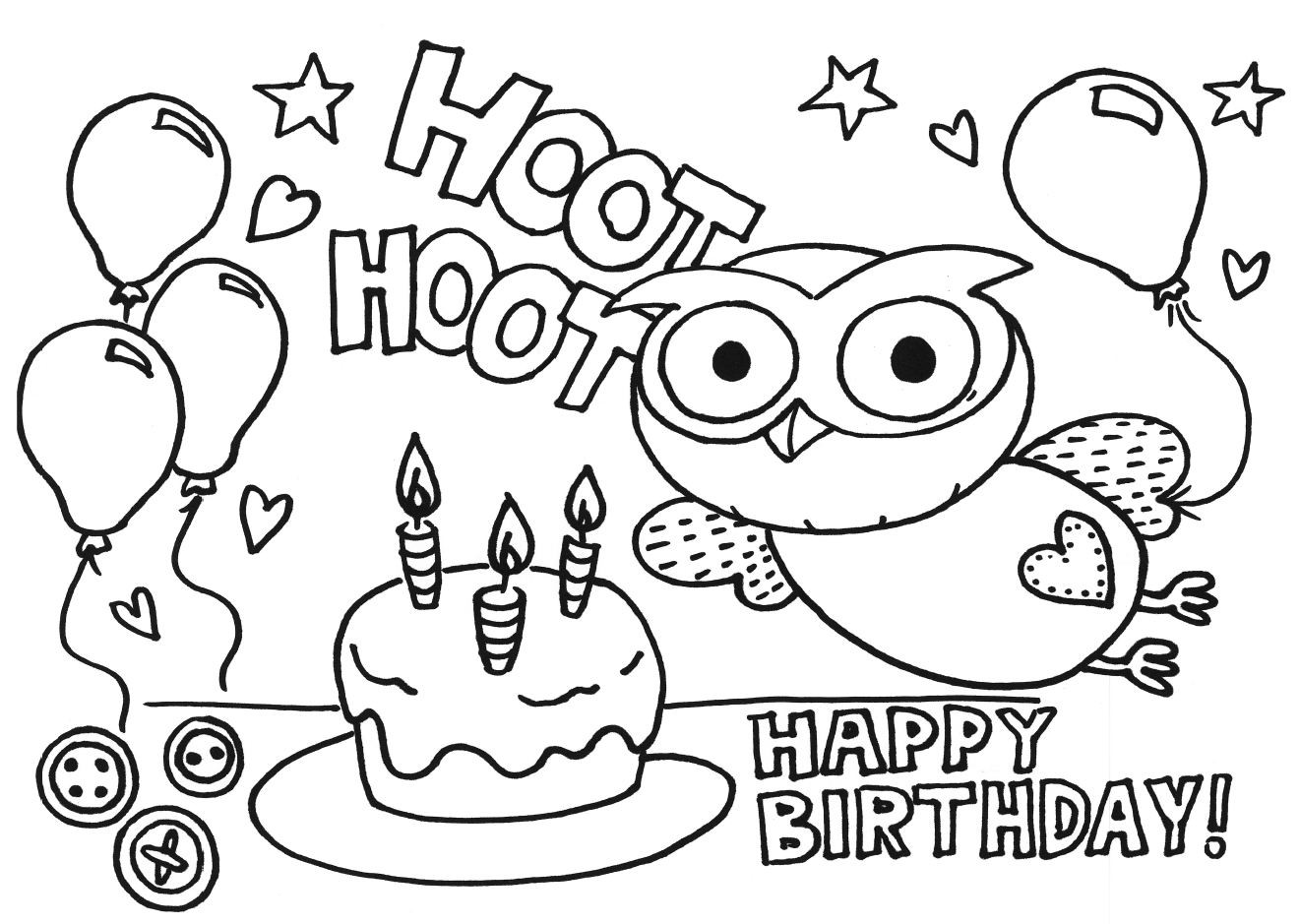 Best ideas about Coloring Pages For Kids Birthday . Save or Pin happy birthday coloring pages for kids Now.
