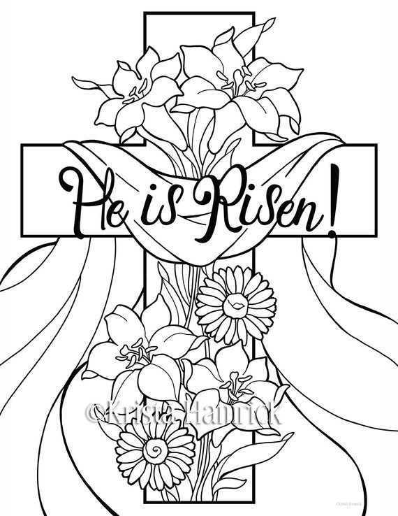 Best ideas about Coloring Pages For Kids For Easter . Save or Pin He is Risen 2 Easter coloring pages for children Now.