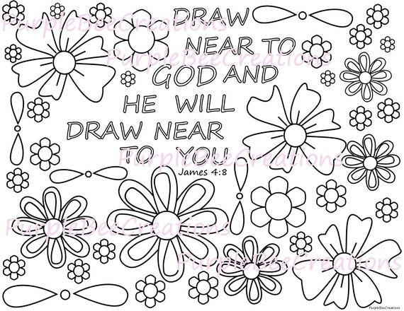 Best ideas about Coloring Pages For Kids For The Book Of James From The Bible . Save or Pin Coloring Page Bible Verse Coloring Page James 4 8 Now.