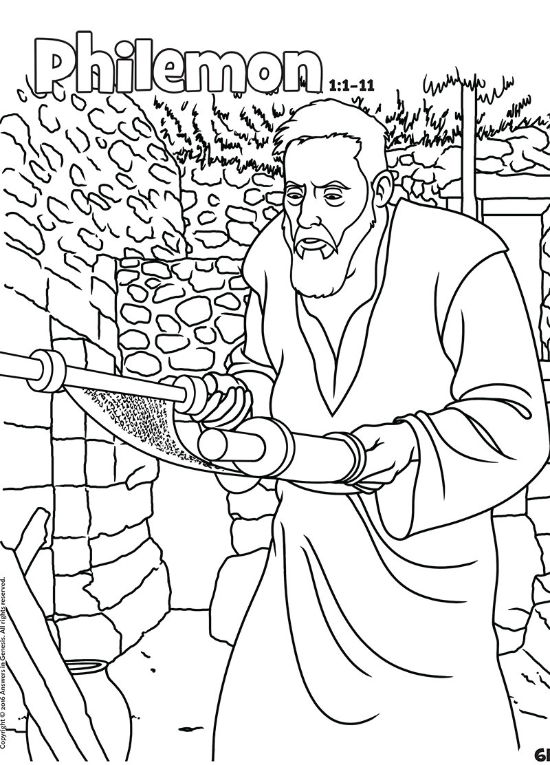 Best ideas about Coloring Pages For Kids For The Book Of James From The Bible . Save or Pin Philemon Books of the Bible Coloring Now.
