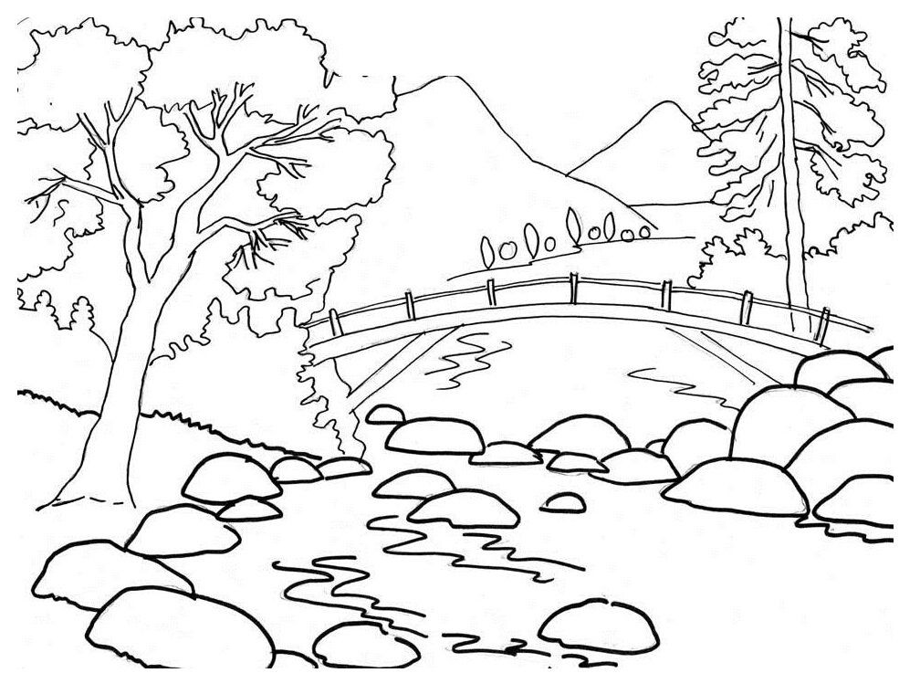 Best ideas about Coloring Pages For Kids Nature . Save or Pin Download Landscapes Coloring Pages Now.
