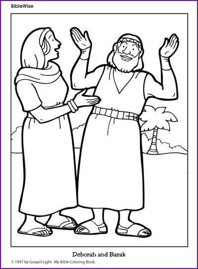 Best ideas about Coloring Pages For Kids Of Book Of Judges . Save or Pin Coloring Deborah and Barak Kids Korner BibleWise Now.