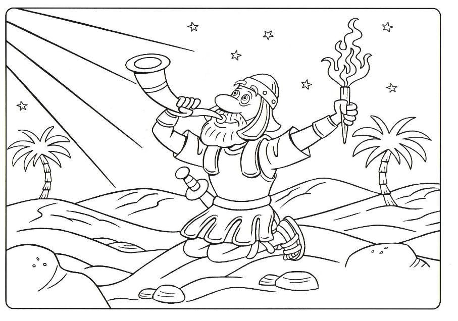 Best ideas about Coloring Pages For Kids Of Book Of Judges . Save or Pin Gideon Coloring Page Free Coloring Home Now.