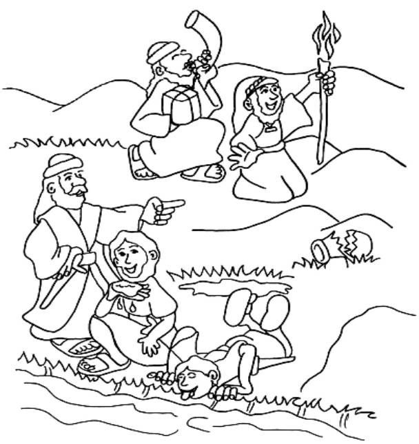 Best ideas about Coloring Pages For Kids Of Book Of Judges . Save or Pin Judges Gideon for Kids on Pinterest Now.