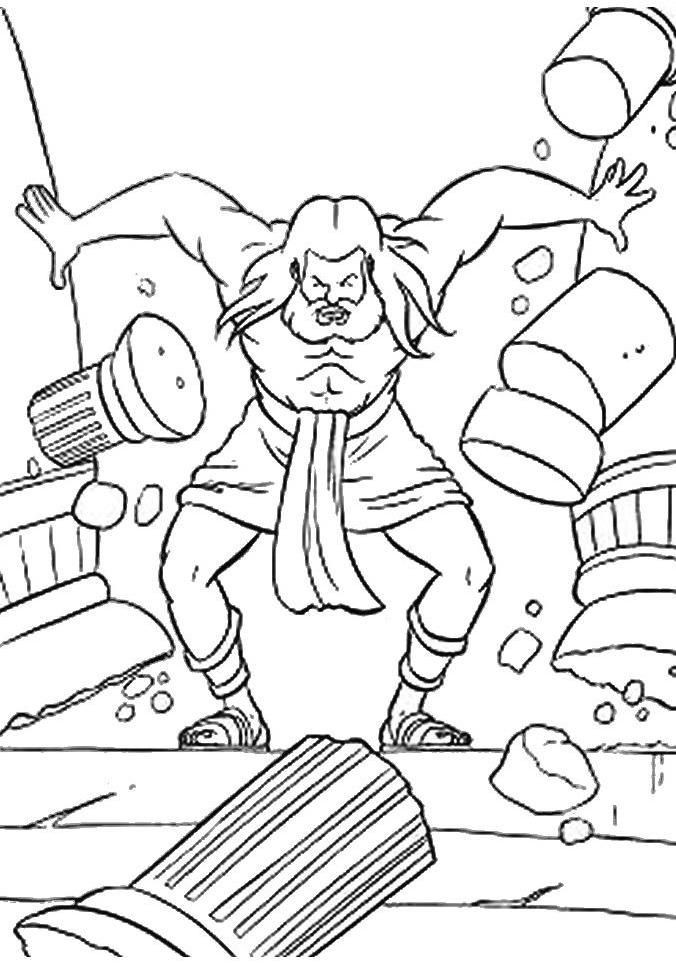 Best ideas about Coloring Pages For Kids Of Book Of Judges . Save or Pin Samson Bible Coloring Pages Coloring Home Now.