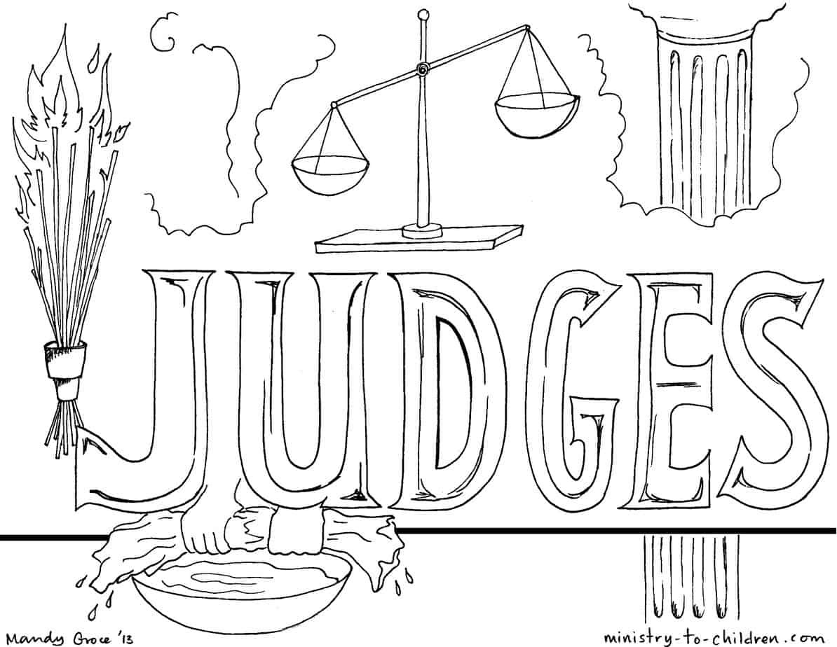 """Best ideas about Coloring Pages For Kids Of Book Of Judges . Save or Pin """"Book of Judges"""" Bible Coloring Pages Now."""