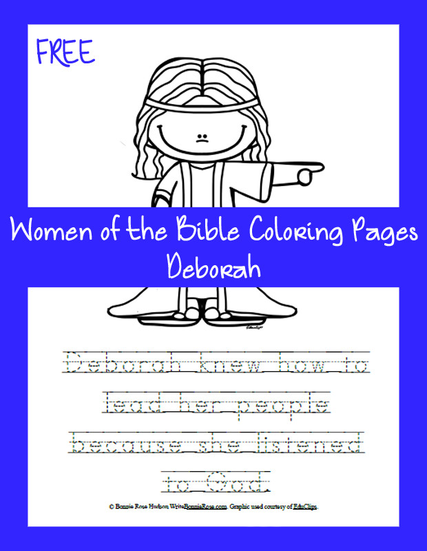 Best ideas about Coloring Pages For Kids Of Book Of Judges . Save or Pin FREE Women of the Bible Coloring Page Now.
