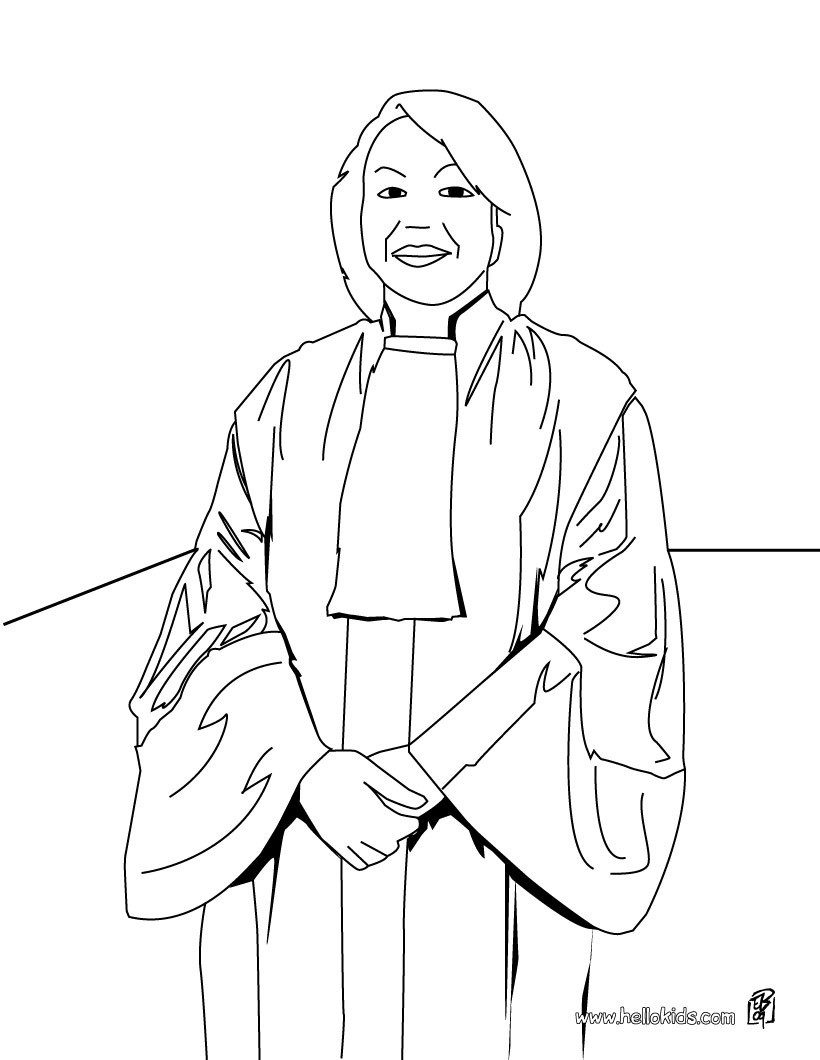 Best ideas about Coloring Pages For Kids Of Book Of Judges . Save or Pin Judge coloring pages Hellokids Now.