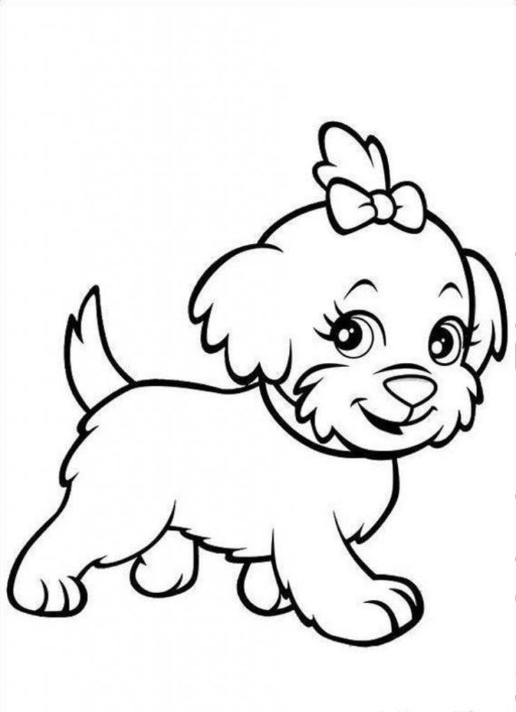 Best ideas about Coloring Pages For Kids Printable Dogs . Save or Pin Free Printable Puppies Coloring Pages For Kids Now.